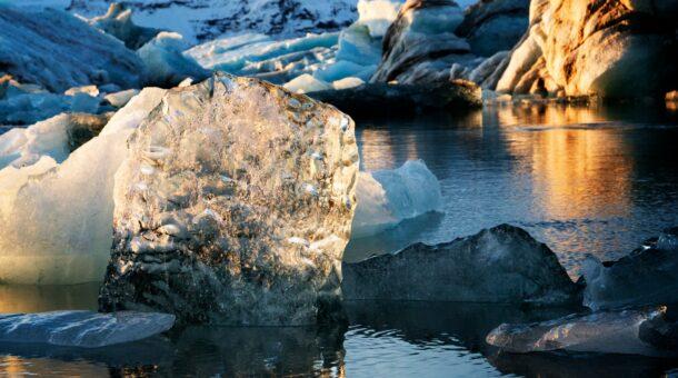 Image of sea ice melting