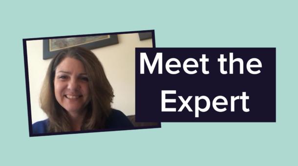 "Heather Reid with title ""Meet the Expert"""