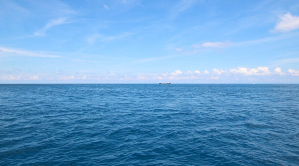 picture of the blue sea and blue sky