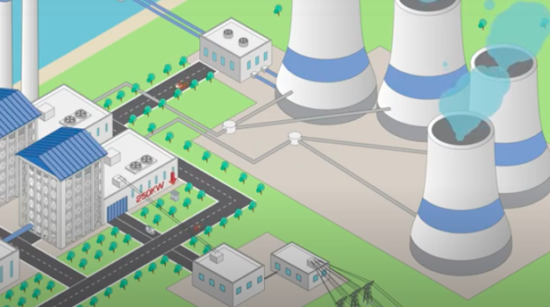 illustrated image of power plant